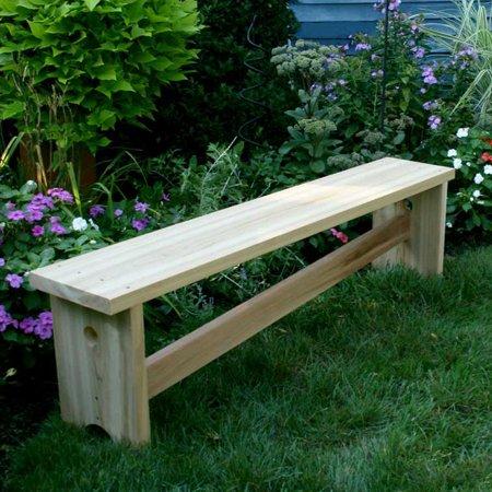 Creekvine Designs Cedar Garden Bench With Slant Brace 5 Ft