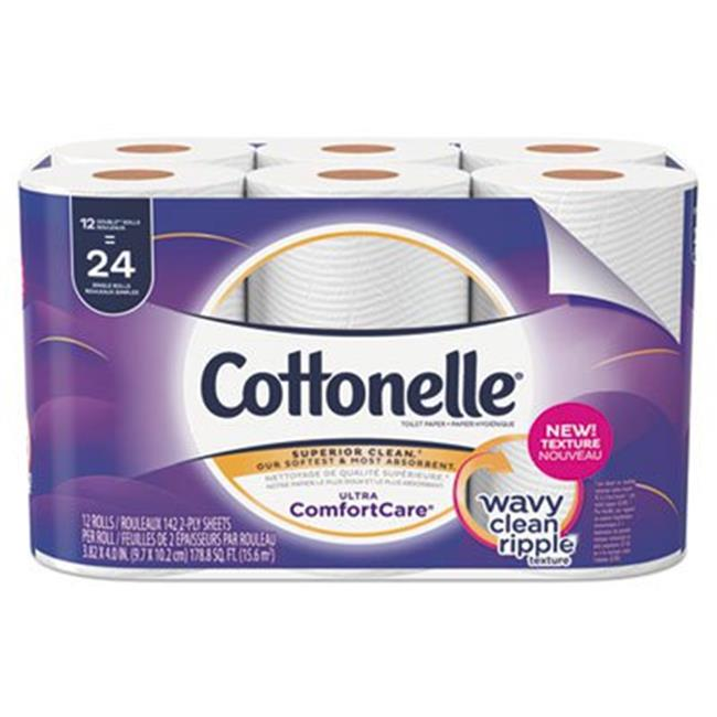 Kimberly Clark 48605 Cottonelle Ultra ComfortCare Toilet Paper Soft Tissue, White - Pack of 4