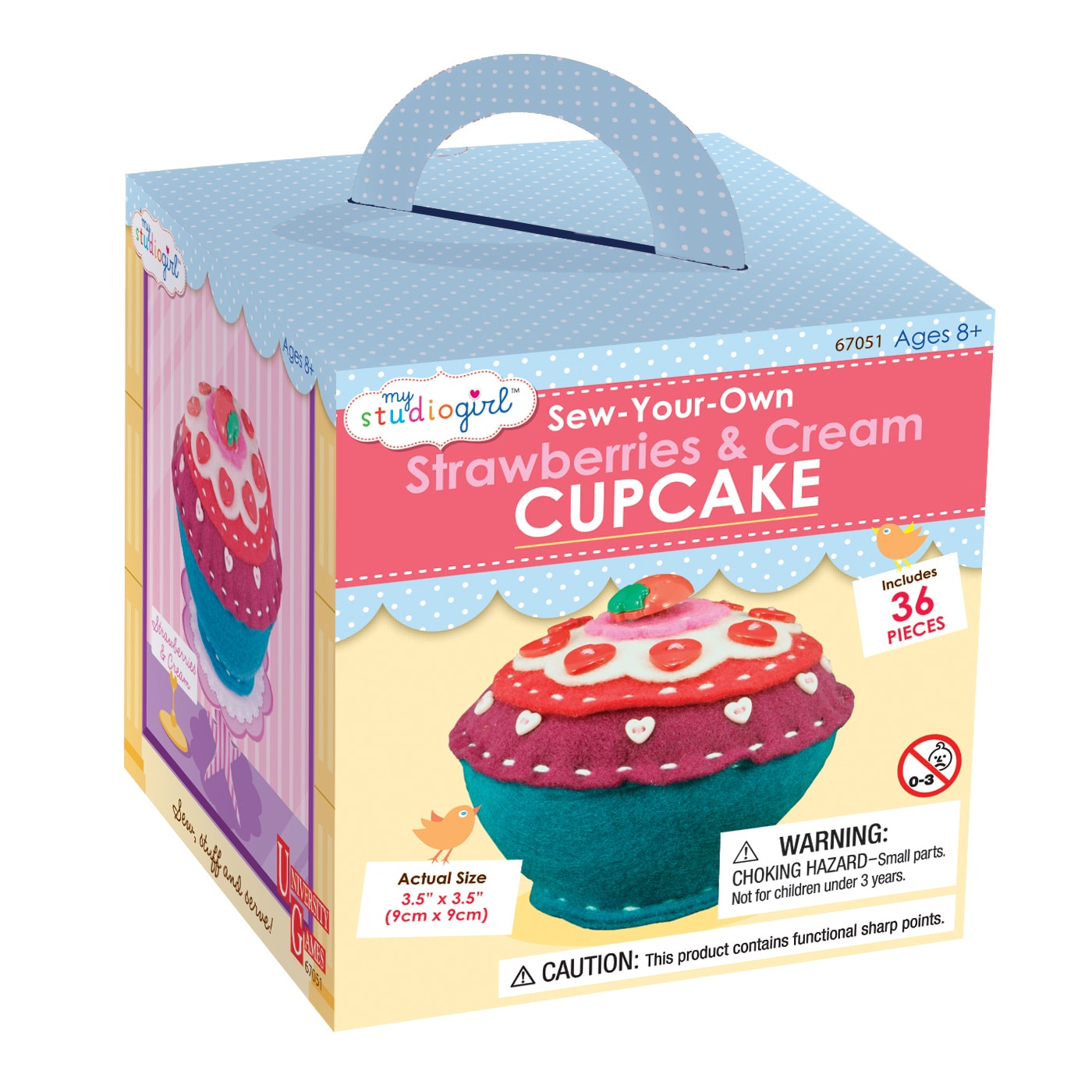 My Studio Girl Sew-Your-Own Strawberries and Cream Cupcake