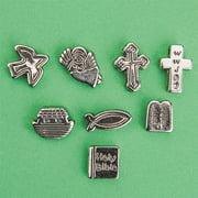Metallic Christian Symbol Beads 1/2lb Bag