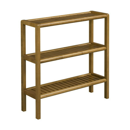 Three Tier Wood (NewRidge Home Solid Wood Abingdon Console, Stand, Bookcase, Shoe Rack, 3 Tier )
