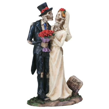 Love Never Dies Skeleton Couple Dia de los Muertos Day of the Dead Figurine - Dia De Los Muertos Cat