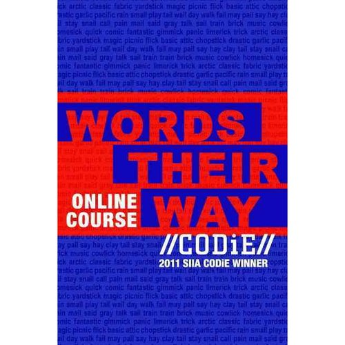 Words Their Way Online Workshop Courseconnect Stand Alone Access Card