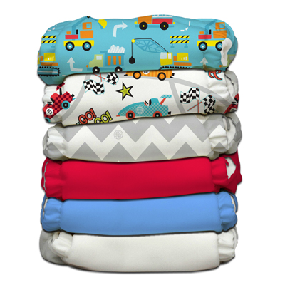 Charlie Banana 6 Diapers 12 Inserts Classic One Size Hybrid AIO by Charlie Banana