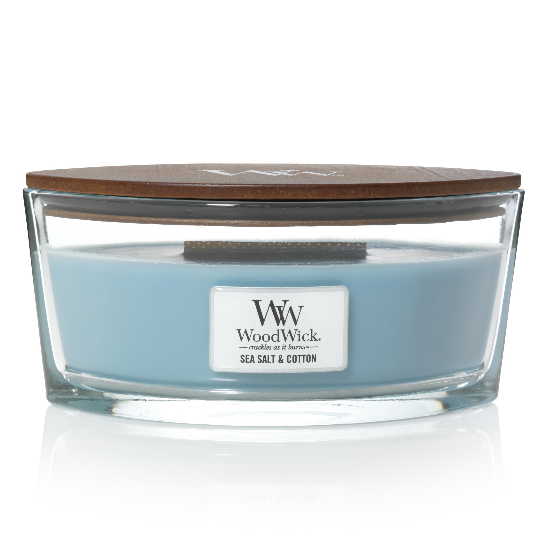 WoodWick Ellipse Candle, Sea Salt & Cotton