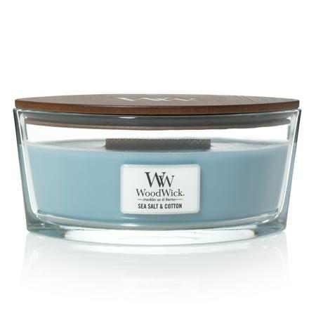 - WoodWick Sea Salt & Cotton - Ellipse Candle