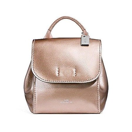 83433f2bec7 NEW WOMENS COACH (F16605) DERBY METALLIC ROSE GOLD PEBBLED LEATHER BACKPACK  BAG - Walmart.com