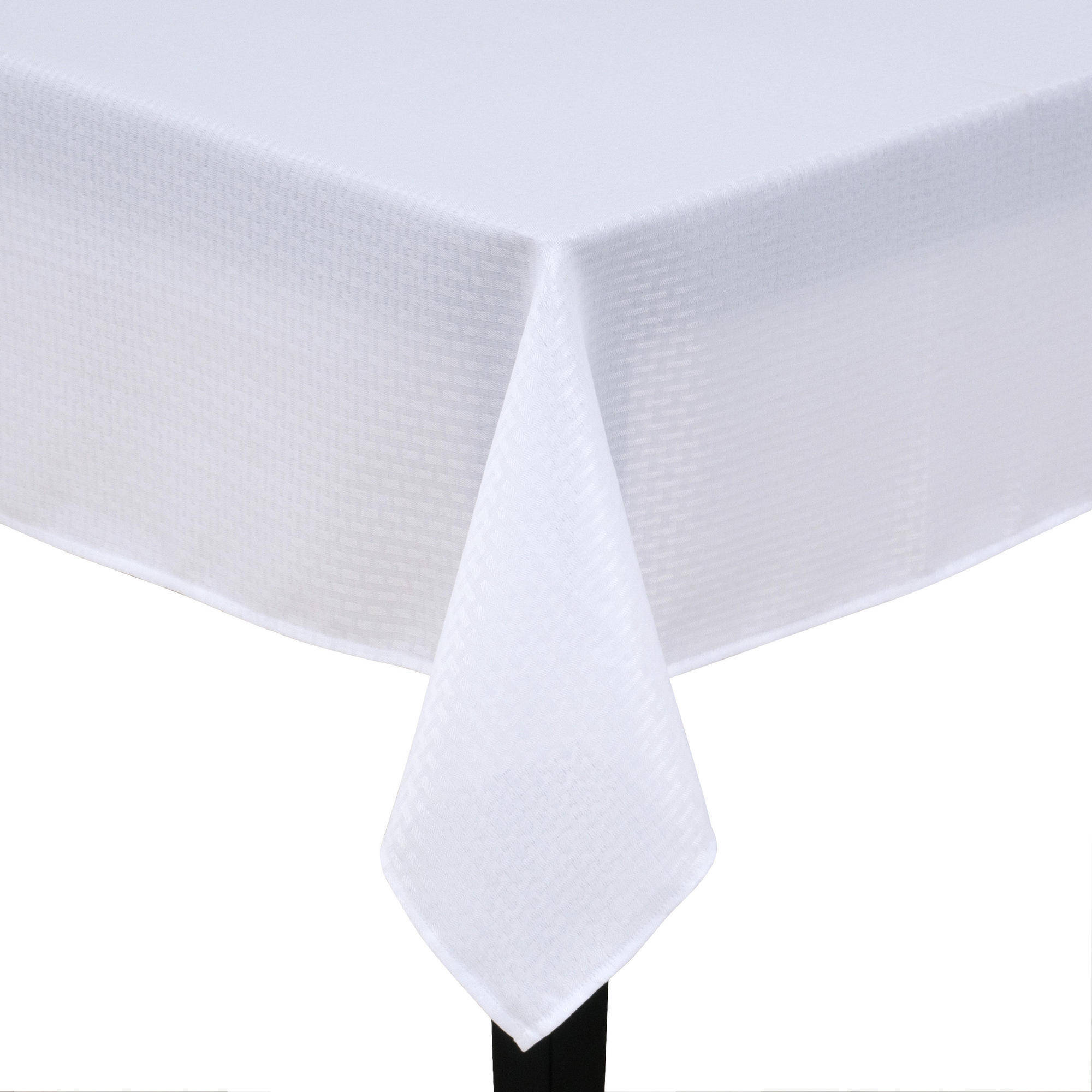 High Quality Mainstays Hyde Fabric Tablecloth, White