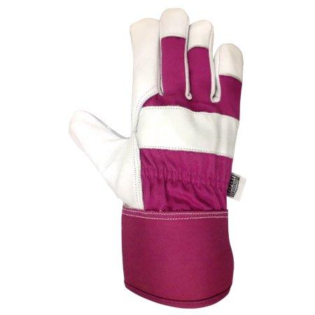 Large Expert Gardener Women/'s Goatskin Leather Performance Gloves Size