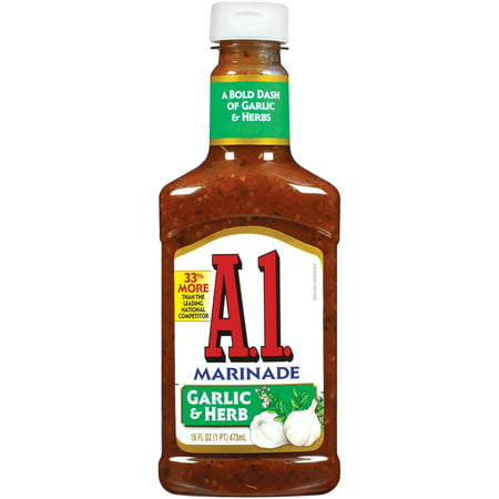 (3 Pack) A1 Steak Sauce, Garlic & Herb, 16 Fl Oz, 6