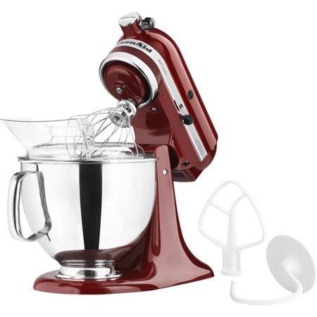 KitchenAid KSM150PSOB 5 Qt. Artisan Series Stand Mixer, Gloss Cinnamon Powerful and versatile, the KitchenAid KSM150PSGC 5 Qt. Artisan Series Stand Mixer - Gloss Cinnamon is a handy addition to any chef's kitchen. Finished in gloss cinnamon, this mixer has a stainless steel bowl, and comes with a flat beater, dough hook, wire whisk, and pouring shield. Additional Features: 14.13L x 8.75W x 14H inches Tilt head for easy bowl access Powerful direct-drive transmission Attachment hub with hinged cover Planetary mixing action KitchenAid For over 80 years, KitchenAid has been devoted to creating innovative cookware that inspires culinary excellence. From the original Stand Mixer first created in Troy, Ohio, this industry leader now offers a wide assortment of cookware, bakeware, kitchen accessories, and appliances. All products are designed with your cooking needs in mind and are engineered to exceed the highest manufacturing standards. Since 1919, KitchenAid has been synonymous with quality and value. As a result, all KitchenAid products are backed by exceptional, industry-leading warranties. Check out the complete line today.