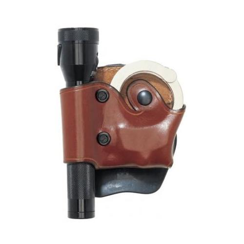 AKER LEATHER 618 D.M.S. Flashlight and Handcuff Case A618TPRU