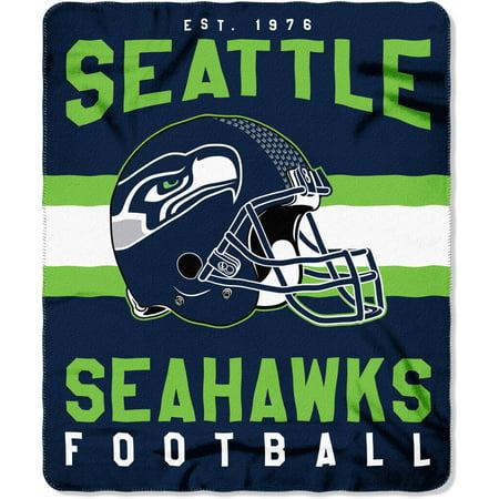 Nfl Seattle Seahawks  Singular  50  X 60  Fleece Throw