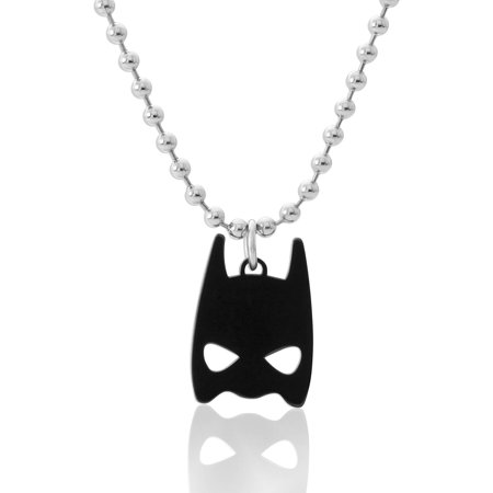 Comics Stainless Steel Batman Mask Pendant, 18 Chain and Lobster Claw
