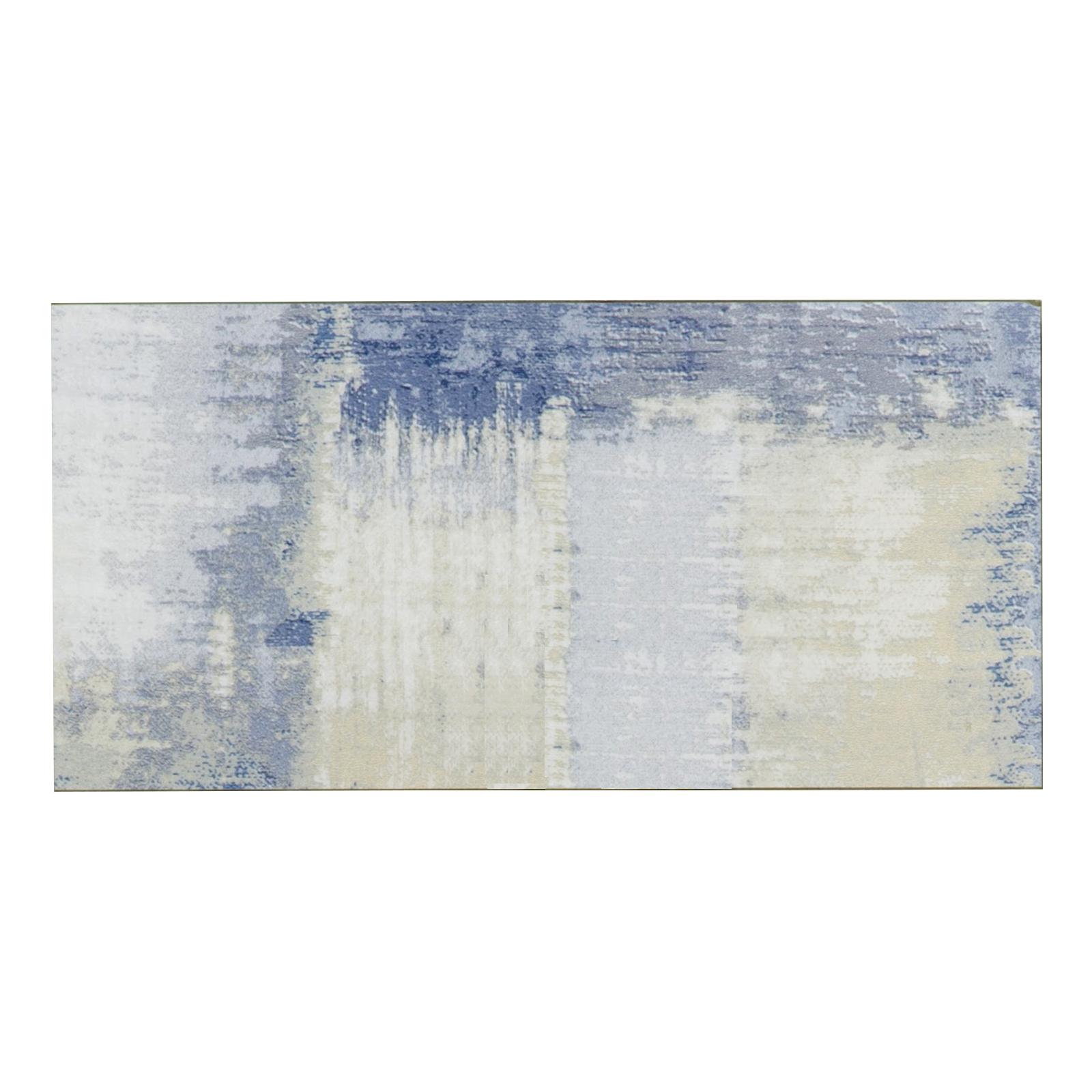 "Abolos- Nature Straight Edge 4"" x 8"" Glass Subway Backsplash Tile in Cement Blue/Tan/Gray (16sqft / 80pc Box)"