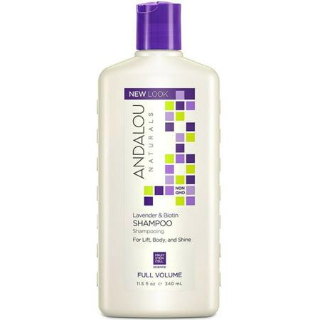 Andalou Naturals Full Volume Shampoo, Lavender - Biotin 11.50 oz (Pack of (Andalou Lavender & Biotin Full Volume Shampoo)
