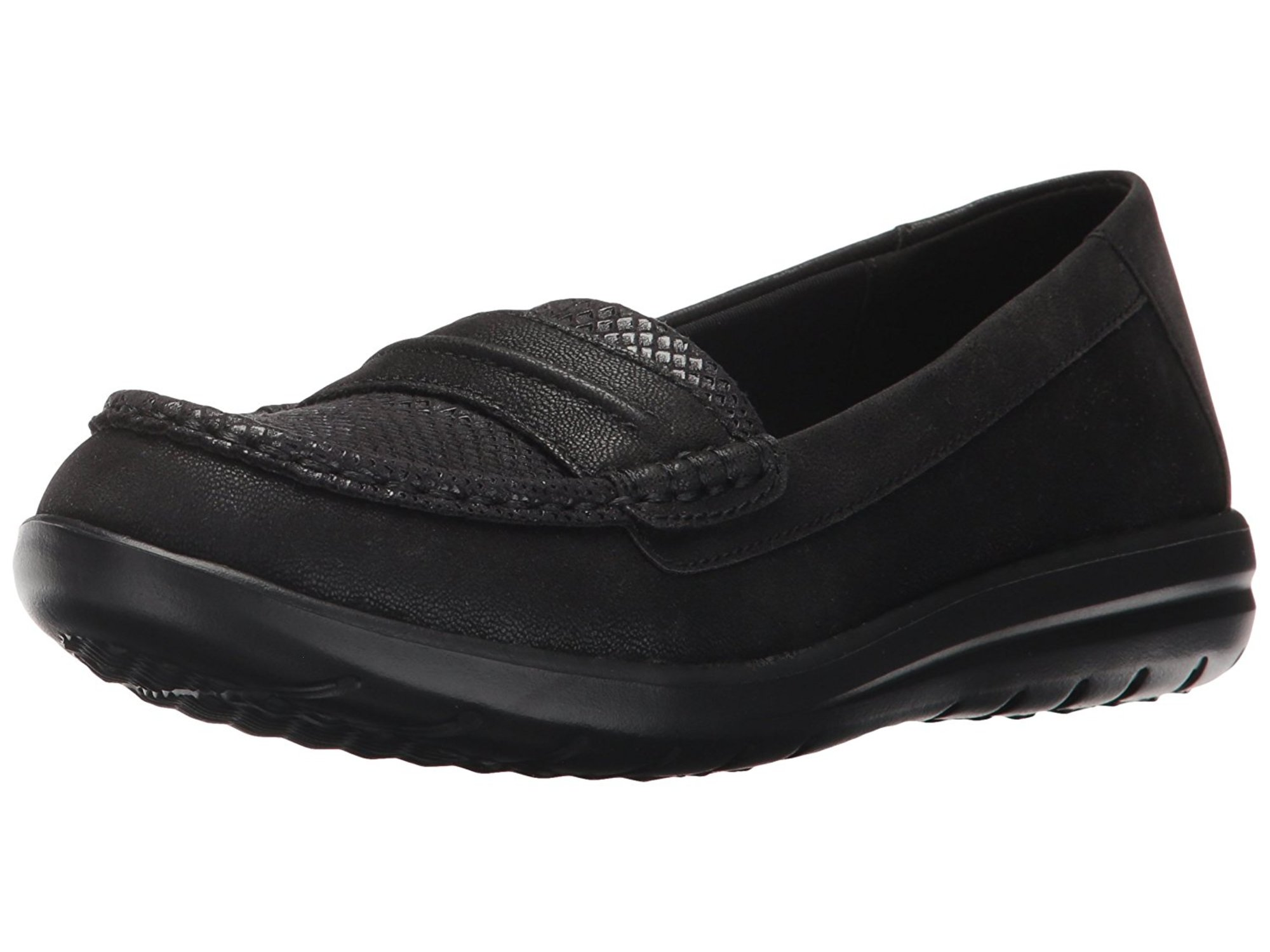 34a6ea3139b CLARKS Womens Jocolin Maye Fabric Closed Toe Loafers