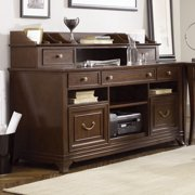 American Drew Cherry Grove NG Home Office Credenza w/ Hutch in Brown