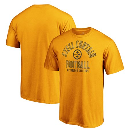 Pittsburgh Steelers Majestic Iconic Hometown Arc Logo T-Shirt - Gold