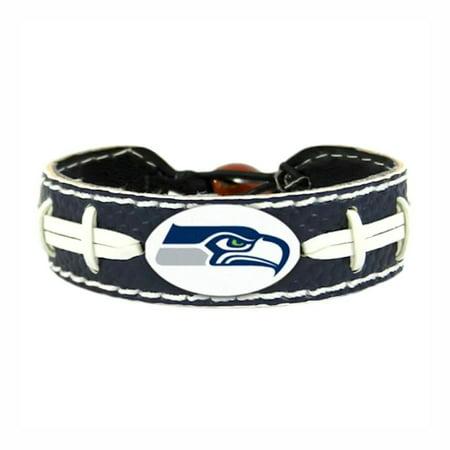 NFL Seattle Seahawks Team Color Sports Team Logo Gamewear Leather Football Bracelet - image 2 de 2