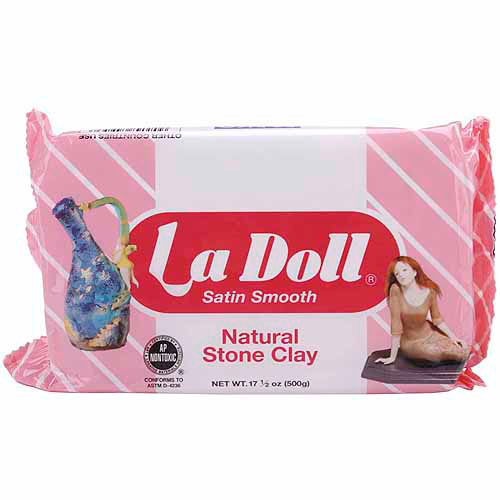 Activa La Doll Natural Stone Clay, 1.1 lb, Satin Smooth