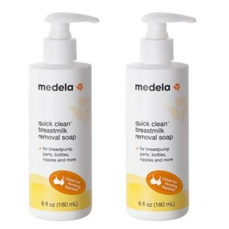(2 Pack) Medela Quick Clean Breastmilk Removal Soap, 6 fl