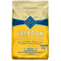 Blue Buffalo Freedom Grain Free Natural Adult Healthy Weight Dry Dog Food, Chicken, 24-lb