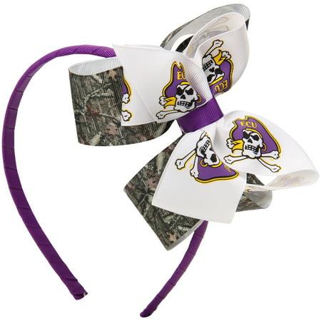 East Carolina Pirates Women's Wrapped Headband with Double Bow - Mossy Oak- Camo - No Size (Pirate Headband)