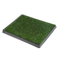 Hellan Pee Training, Pet Toilet,Dog Puppy Cat Pet Potty Mat Grass Pad with Tray House Indoor Restroom Toilet Pee Training Tool