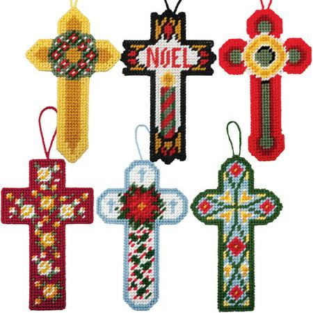 Herrschners® Christmas Cross Ornaments Plastic Canvas Kit