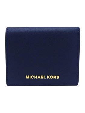 5474d6d11ac0be Product Image Michael Kors Jet Set Navy Leather Card Holder 32T4GTVF2L