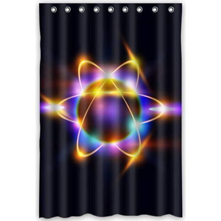 XDDJA Science Atom Pattern Shower Curtain Waterproof Polyester Fabric Shower Curtain Size 48x72 inches - image 1 of 1