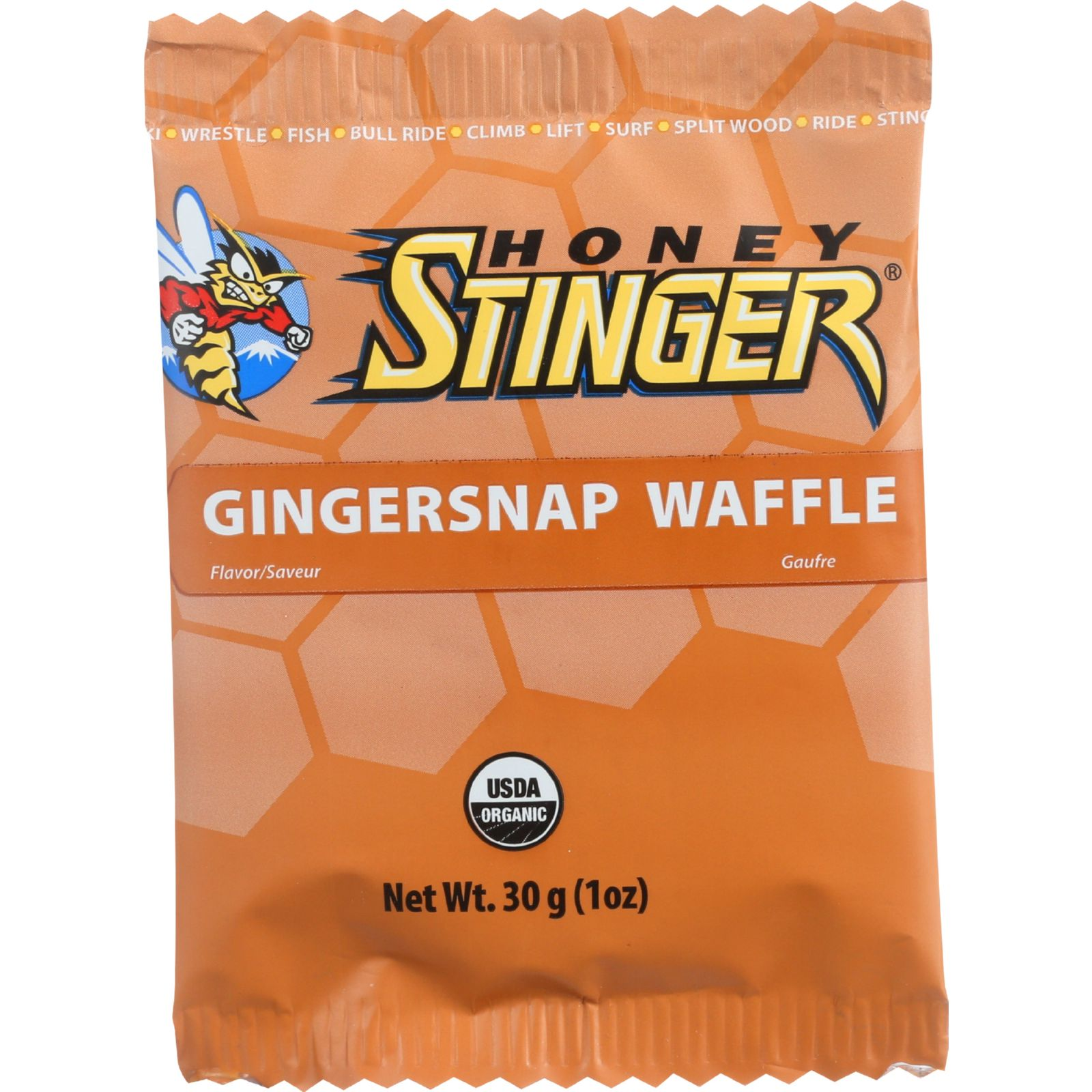 Honey Stinger Waffle Ginger Snap Box of 16