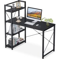 ODK Computer Desk with Storage Shelves 47-inch