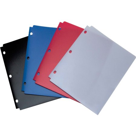 Wilson Jones  Snapper Folder  Letter Size  Two Pockets  Classic Color Assortment   For Letter 8 50  X 11  Sheet   Ring Binder   Rectangular   Red  Blue  Black  Purple   Poly   1 Each