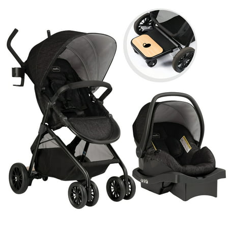 - Evenflo Sibby Travel System w/ LiteMax Infant Car Seat, Charcoal