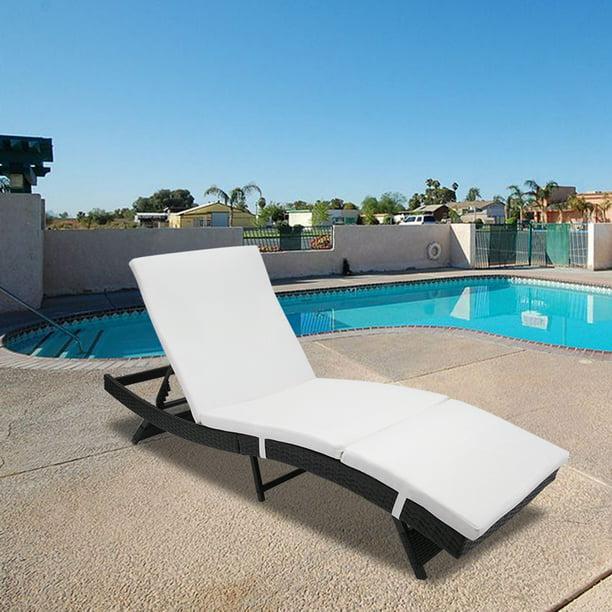 Pool Lounge Chair Adjustable Patio, Pool Deck Furniture
