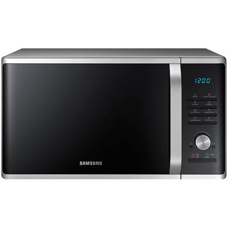 samsung 1 1 cu ft countertop microwave with ceramic enamel interior silver sand