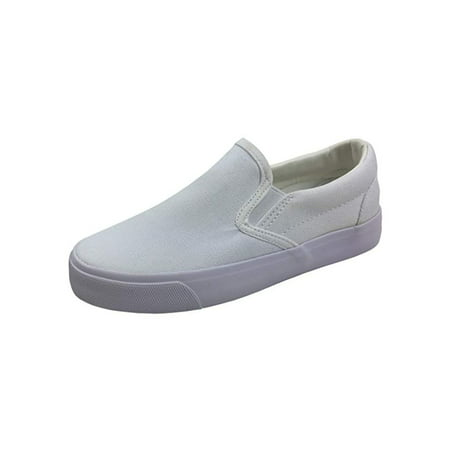 New Kids Classic Slip On Canvas Casual Low Sneakers Tennis Shoes