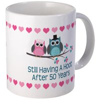 CafePress - 50Th Anniversary Owl Gift Mugs - Unique Coffee Mug, Coffee Cup CafePress