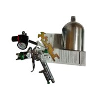 Zimtown 2.5mm Nozzle Paint Base Primer HVLP Spray Guns Kit Gauge Auto Gravity Feed