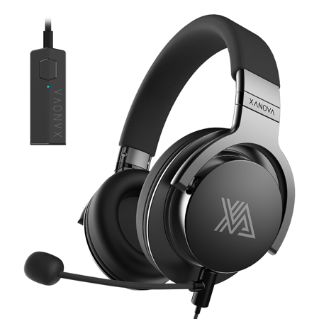 XANOVA JUTURNA-U Gaming Headset For Console, PC, Over Ear Headphone, Stereo Sound, Equipped with 7.1 Sound