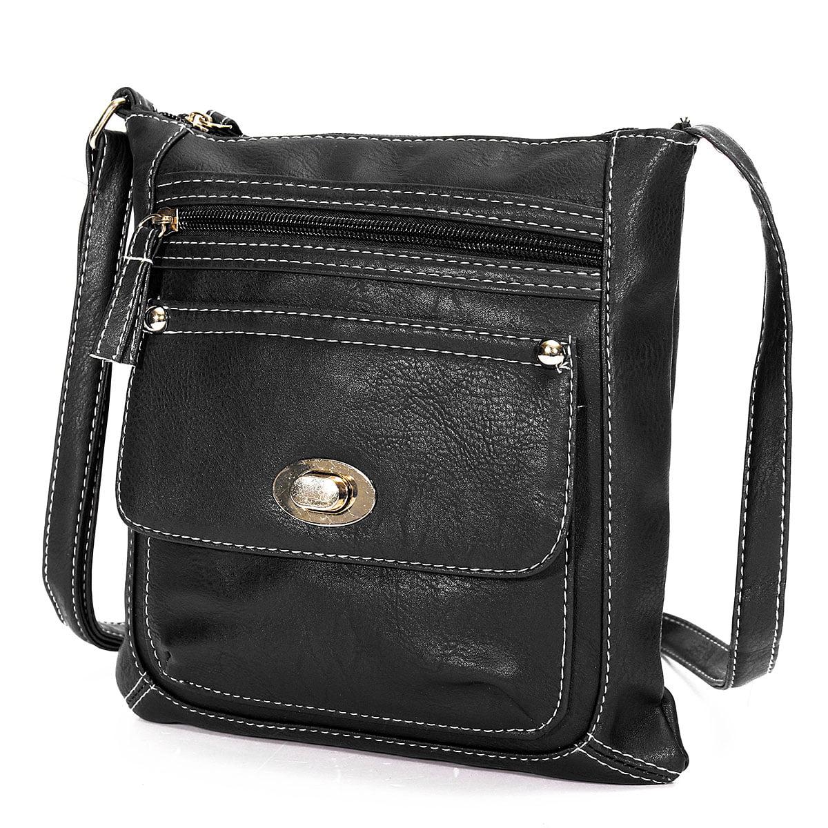 8bd6ea08ae Meigar - Fashion Shoulder Bag Handbag Crossbody Messenger PU Leather Small  Zipper For Women - Walmart.com