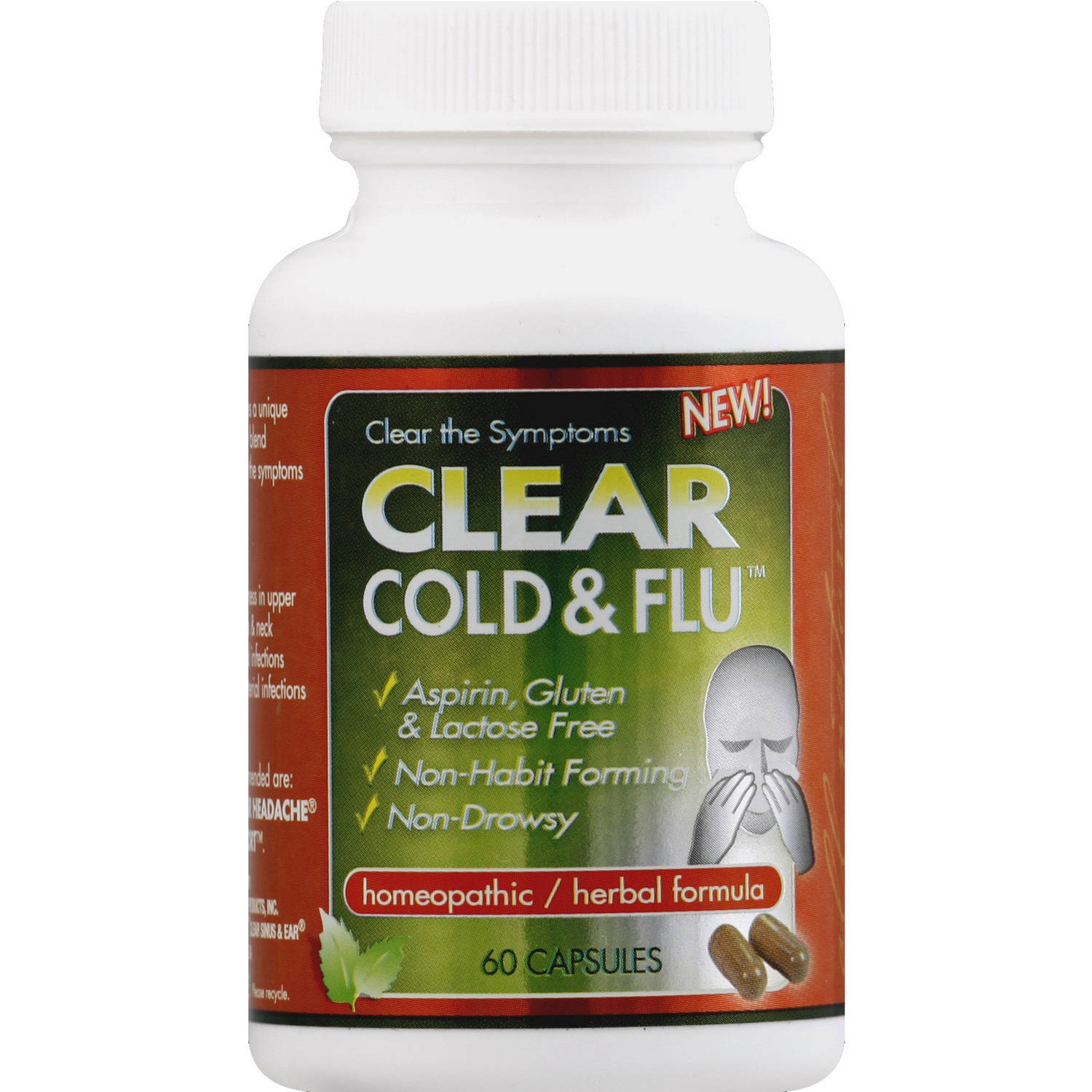 Clear Cold & Flu, Capsules, 60 CT