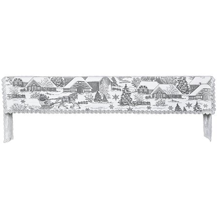 Halloween Mantel Decor Pinterest (Sleigh Ride Winter Scene Mantel Mantle Scarf Heritage Lace 29X96 Indoor)