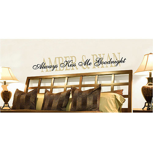 Personalized Always Kiss Me Goodnight Wall Vinyl, 11x55