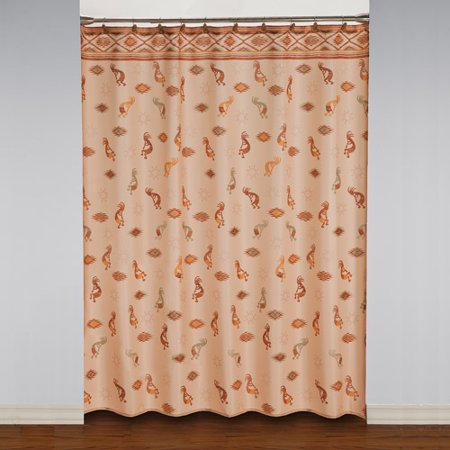 Mainstays Kokopelli Shower Curtain And Hook Set