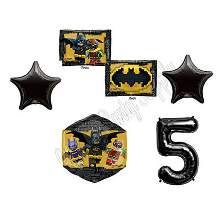 Lego Batman Party (5th LEGO Batman Movie Emblem Birthday Party Mylar Balloon Decorations)