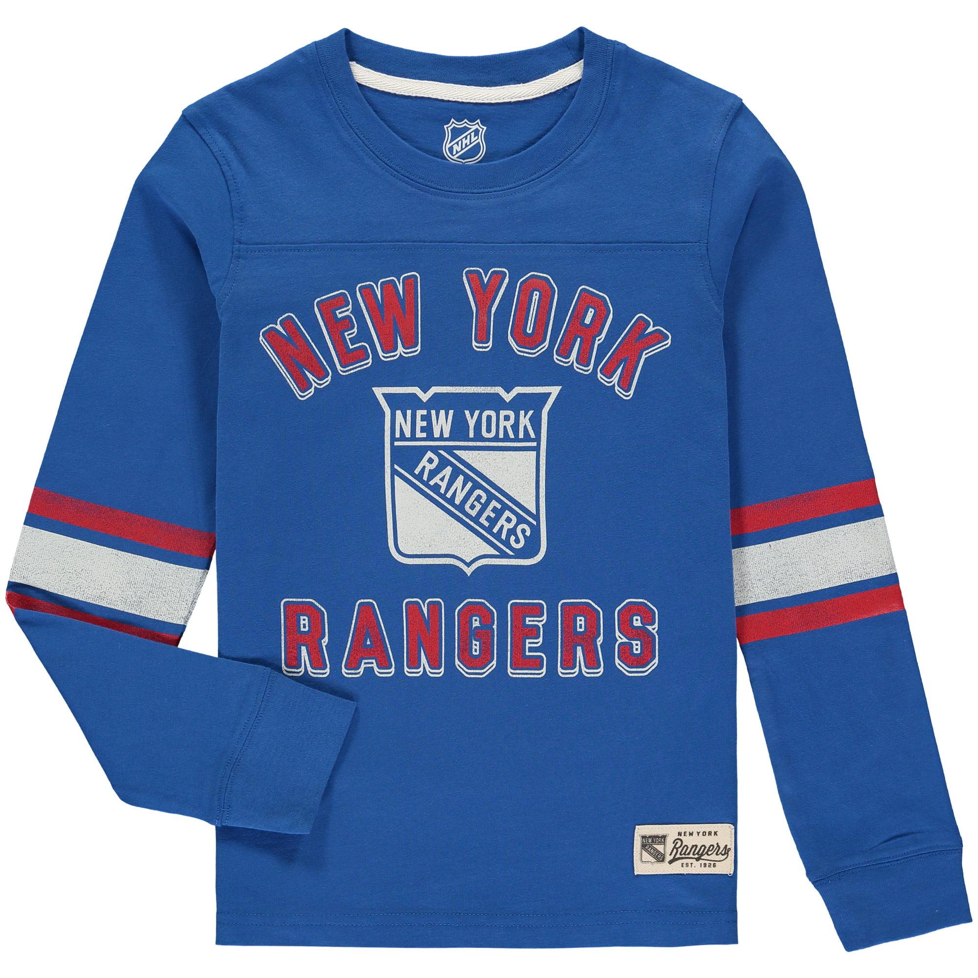 size 40 d4e55 d57df New York Rangers Youth Historical Long Sleeve T-Shirt - Royal