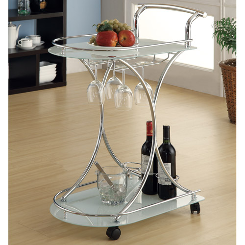 Coaster Contemporary Serving Cart by COA Prospective